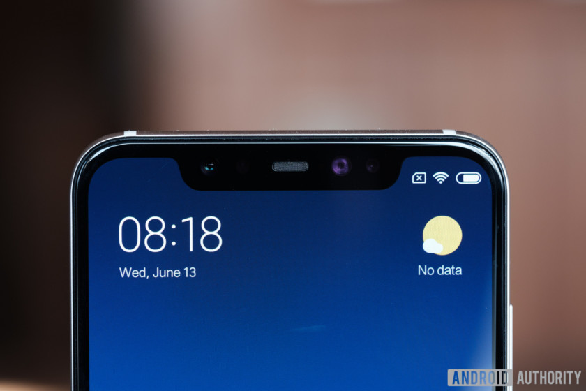 the xiaomi mi 8 comes with a notch similar to the iphone x