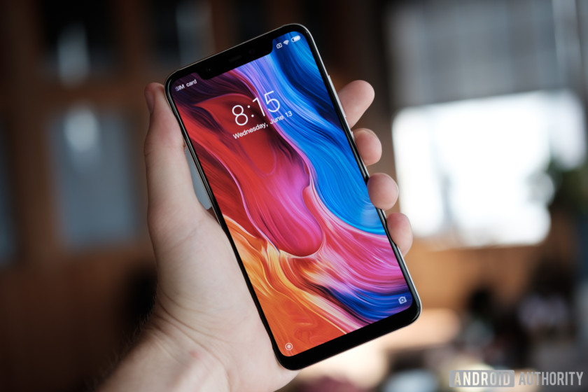 the xiaomi mi 8's oled display