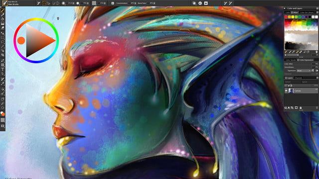 corel painter 2019 announced  temporal colors selector