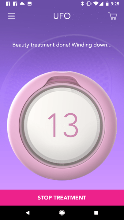foreo ufo smart mask experience app screen 1