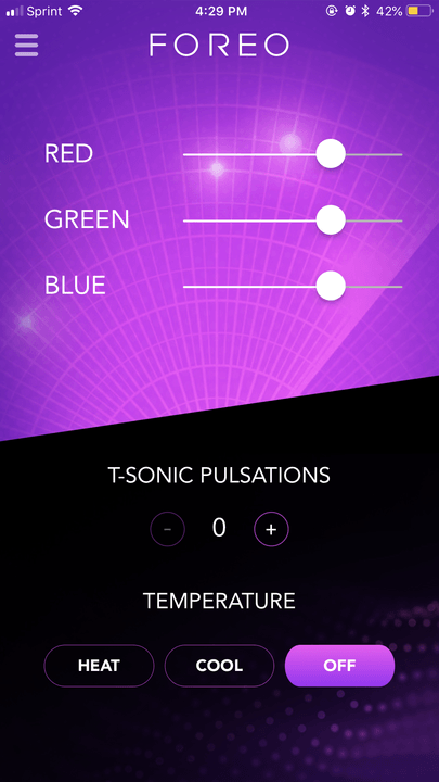 foreo ufo smart mask experience app screen 2