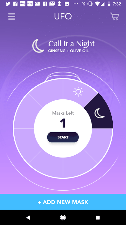 foreo ufo smart mask experience app screen 5