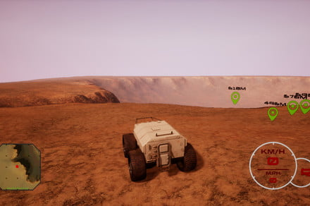 Tear it up on Mars in 'Red Rover,' the driving sim built on NASA data