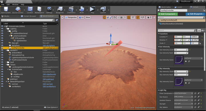 Mars Exploration Simulator Red Rover Crater Design