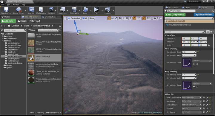 Mars Exploration Simulator Red Rover Terrain Design