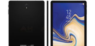 Samsung Galaxy Tab S4 shown off in render with much slimmer bezels