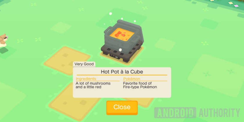 Pokemon Quest Cooking Hot Pot Recipe