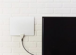 This $13 AmazonBasics indoor TV antenna has a 35-mile range