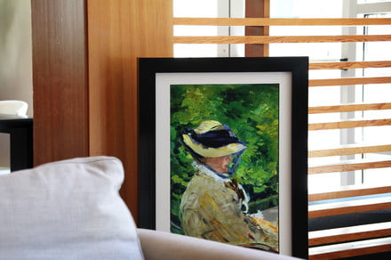 A new digital picture frame is nearly indistinguishable from a real canvas