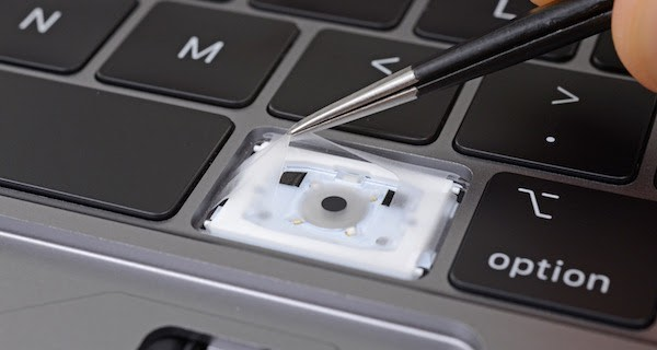 iFixit Teardown Suggests 2018 MacBook Pro Keys Feature a Silicone Barrier to Prevent Malfunctions Due to Dust