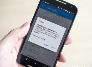 How to clear search and location history in Google Maps on Android