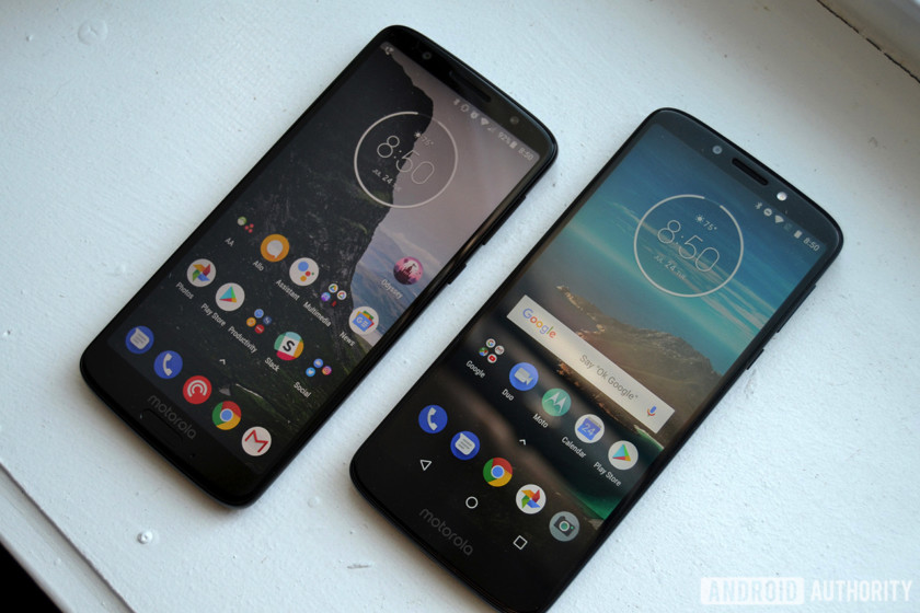 motorola moto g6 and moto g6 play review software display