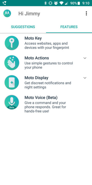 motorola moto g6 review software screenshots