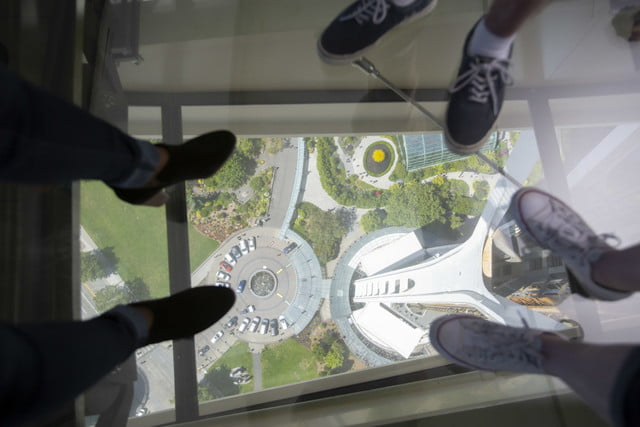 seattle space needle now has a revolving glass floor 1