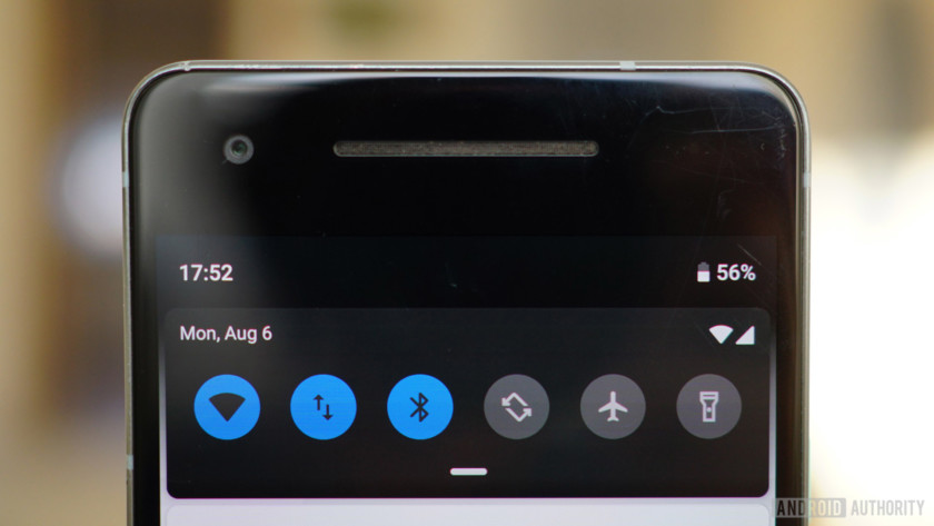 Android 9 Pie review notifications shade Quick Settings toggles