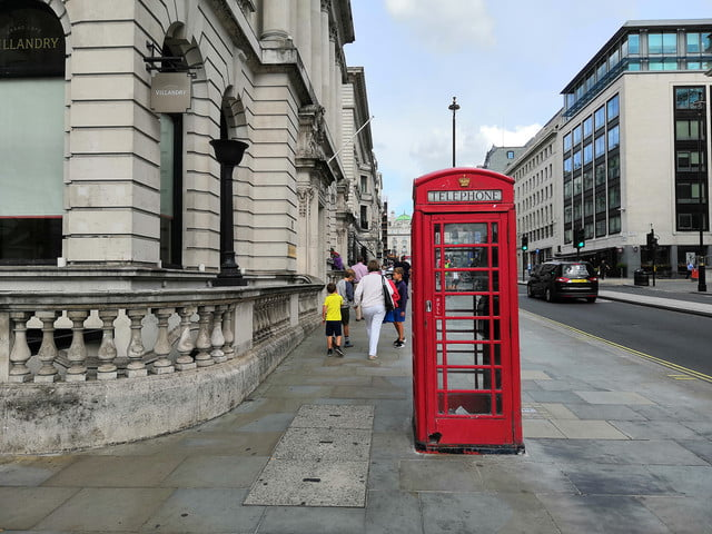 honor play photo telephone booth