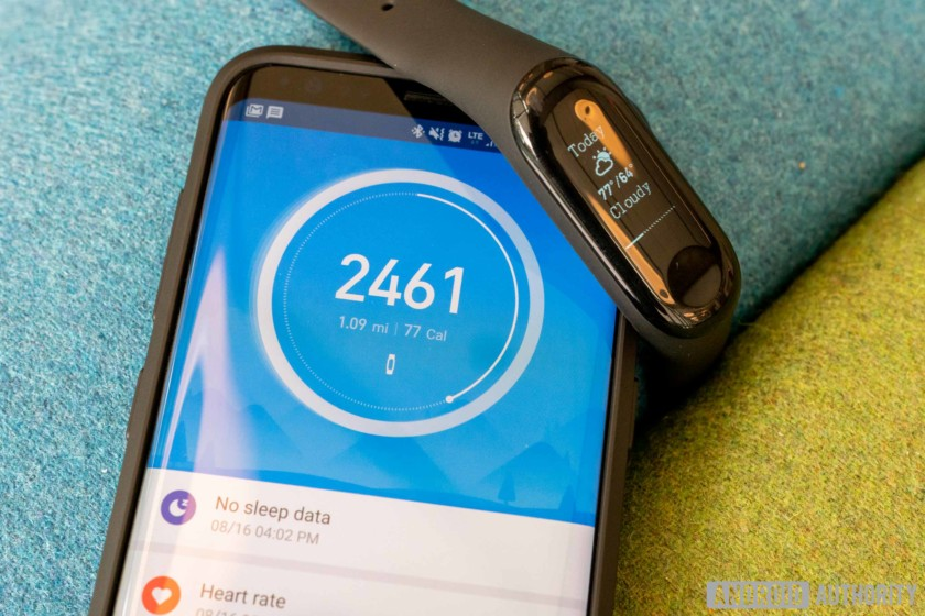 Mi Band 3 health tracking