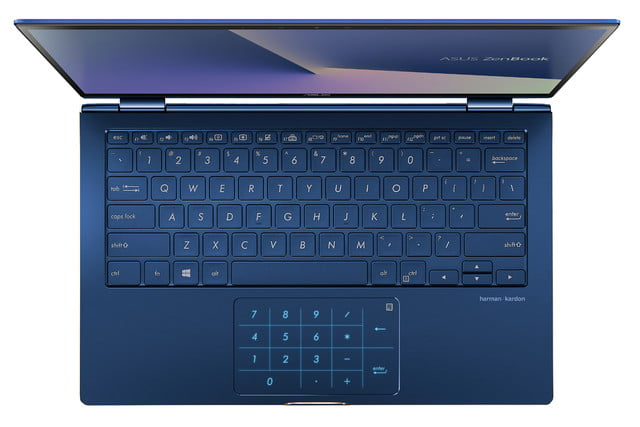 new asus zenbook flip touchpad turns into number pad 2018