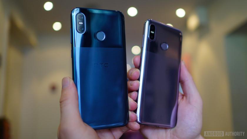HTC U12 Life Moonlight Blue and Twilight Purple colors