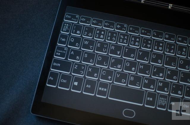 lenovo yoga book c930 keyboard left