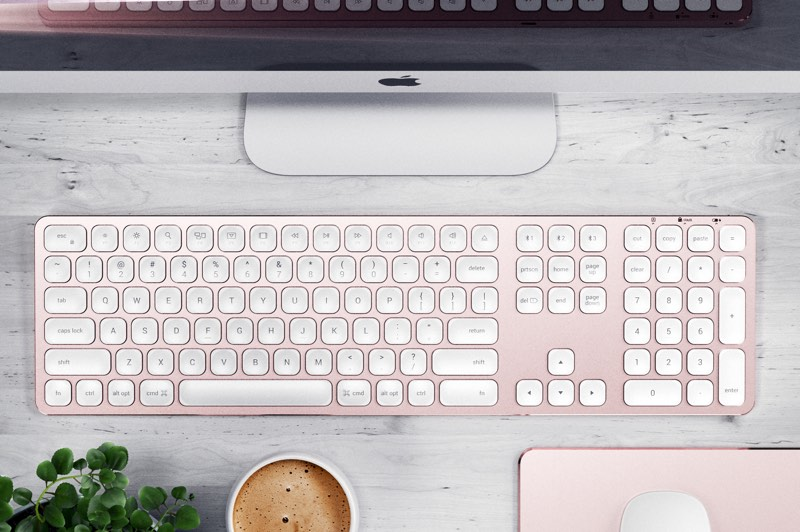 satechi launches new wired and wireless aluminum keyboards designed for imac and imac pro aivanet. Black Bedroom Furniture Sets. Home Design Ideas