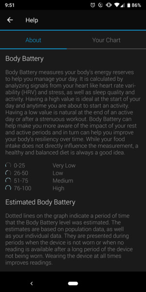 garmin vivosmart 4 body batter