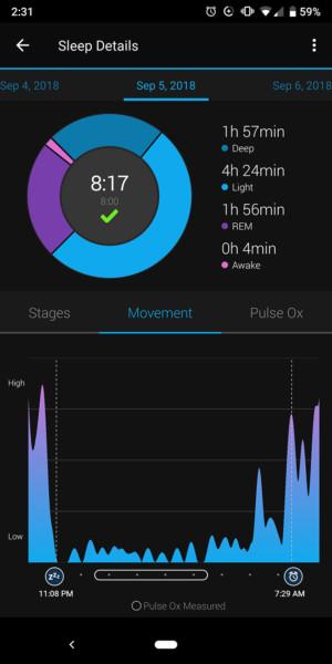 garmin vivosmart 4 sleep tracking
