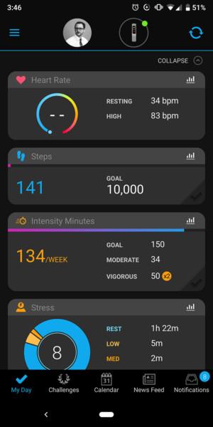 garmin vivosmart 4 review garmin connect app