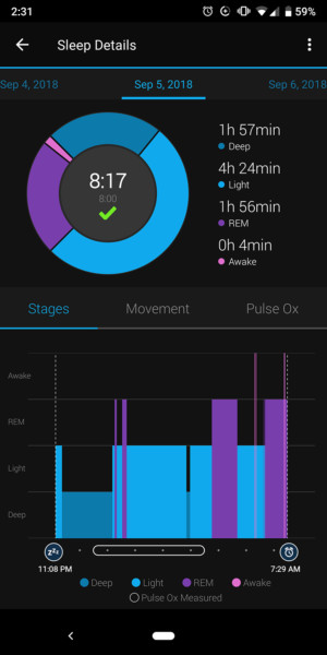 garmin vivosmart 4 sleep tracking