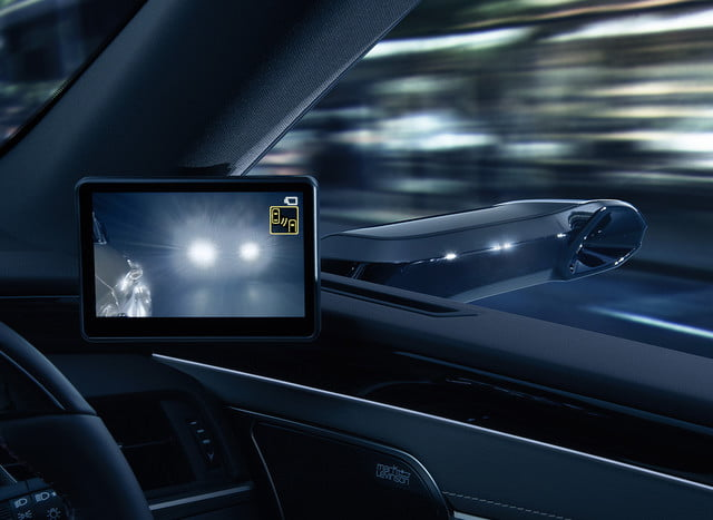 lexus reveals digital side view mirrors on jdm 2019 es monitors for  7