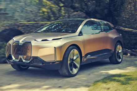 Photos of the BMW Vision iNEXT Concept leak onto the web despite embargo