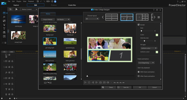 cyberlink photodirector powerdirector 2018 announced video collage