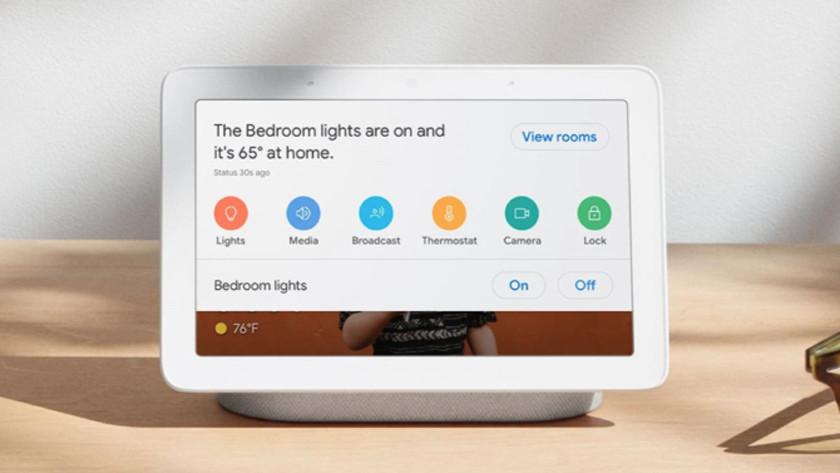 Google Home Hub - Home View dashboard