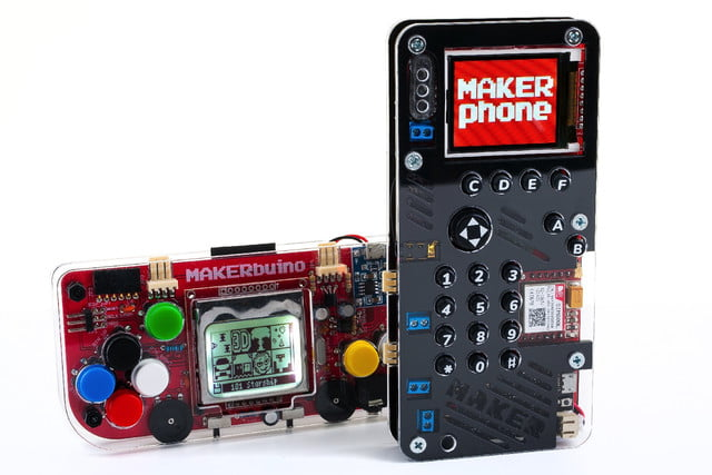 diy makerphone kickstarter maker phone and buino