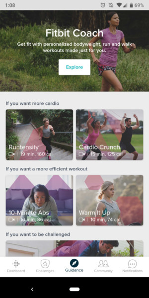 fitbit charge 3 review app screenshots