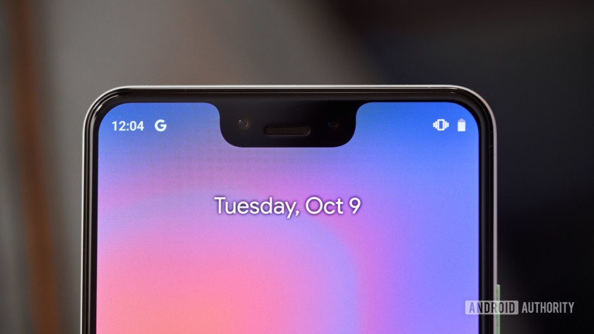 Pixel 3 XL display notch