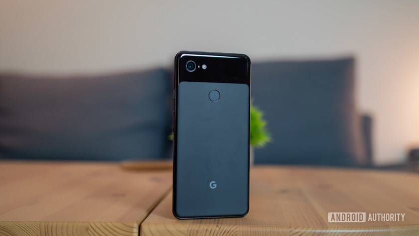 Google Pixel 3 XL from the back