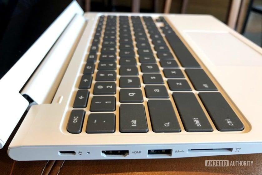 Lenovo Chromebook C330 ports left