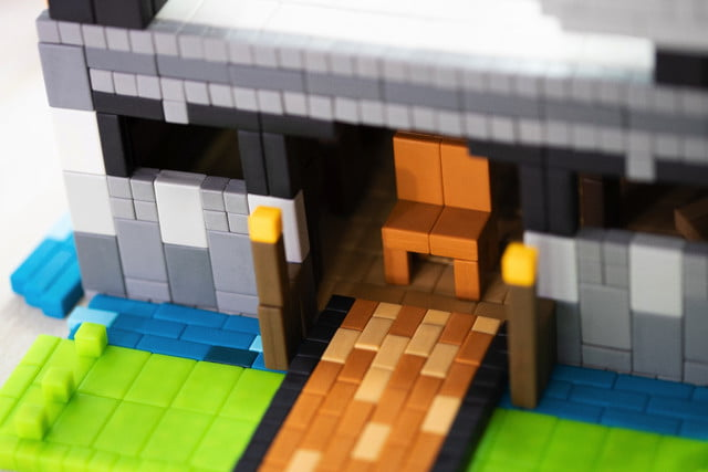 pixl lego bricks meet minecraft fidget cube kickstarter castle 2