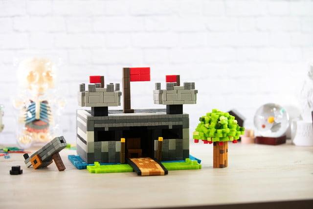 pixl lego bricks meet minecraft fidget cube kickstarter castle