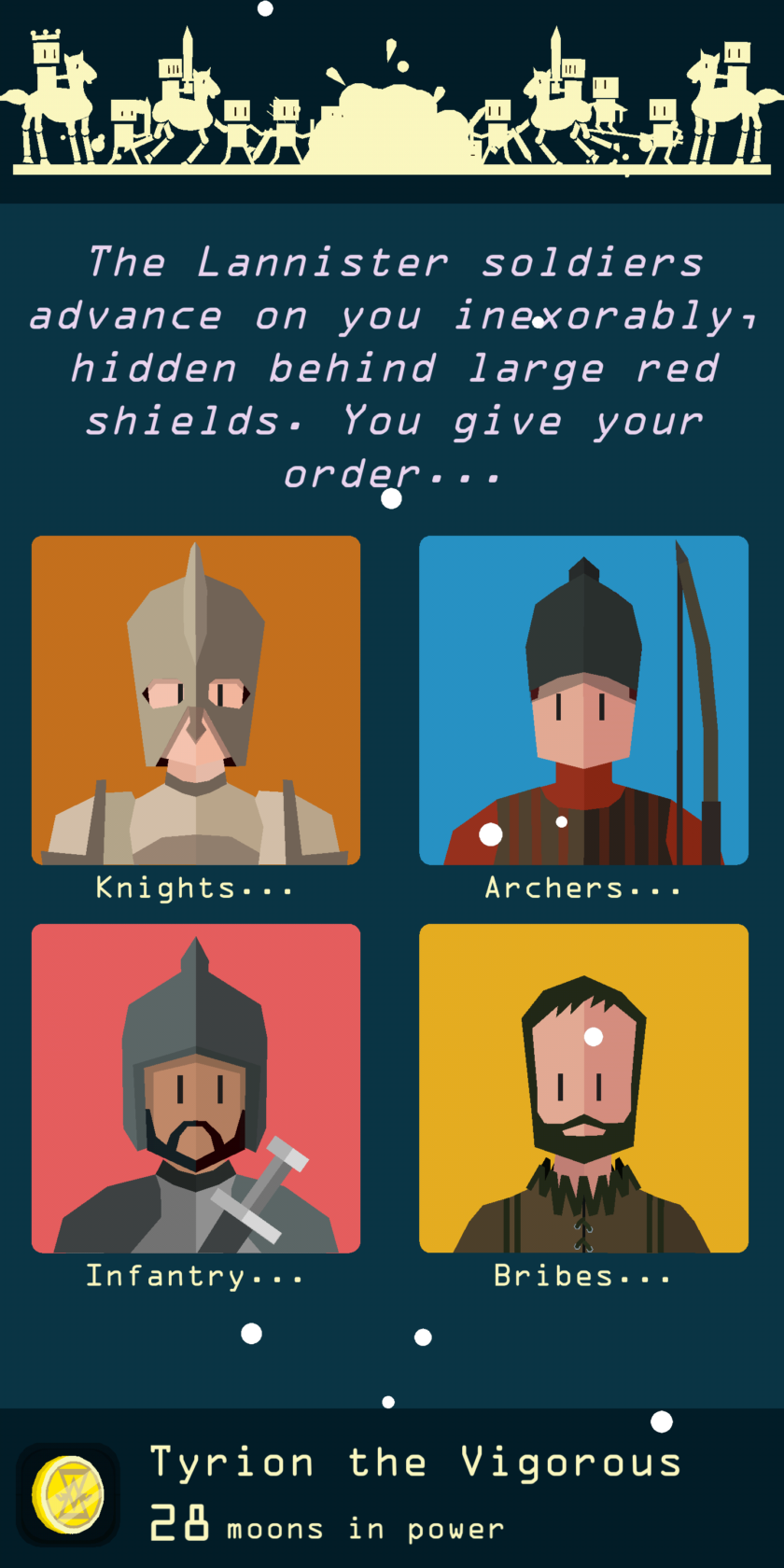 Reigns Game of Thrones screenshot