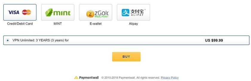 vpn unlimited more payment options