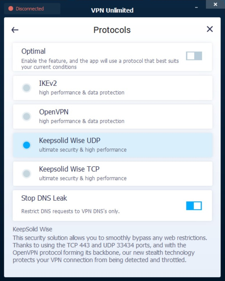 vpn unlimited protocols