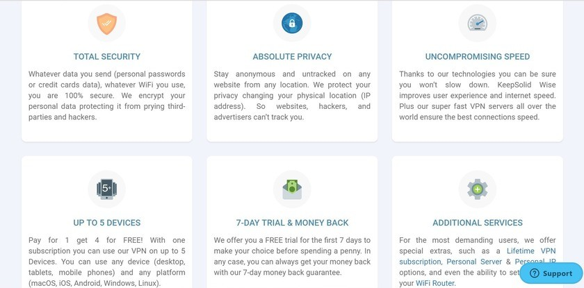 vpn unlimited key features