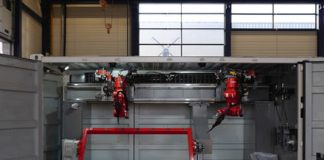 Shipping crate filled with 3D-printing robots may be the future of construction