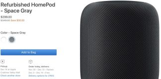 Apple Now Selling Refurbished HomePod for $299
