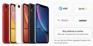 iPhone XR Now Available SIM-Free in the United States