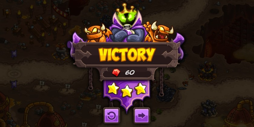 Kingdom Rush Vengeance Review Victory Screen