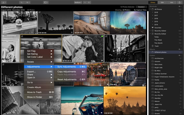 skylum luminar 3 with libraries sync adjustment