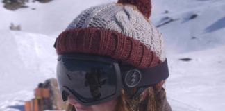 Warm ski beanie instantly hardens into a head-protecting helmet upon impact